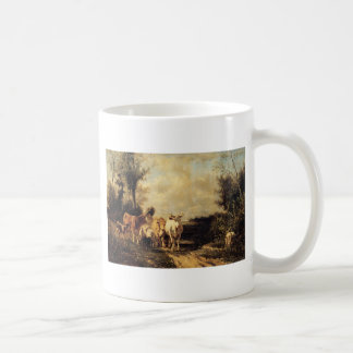 Returning From Pasture by Constant Troyon Coffee Mug