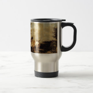 Returning From Pasture by Constant Troyon Travel Mug