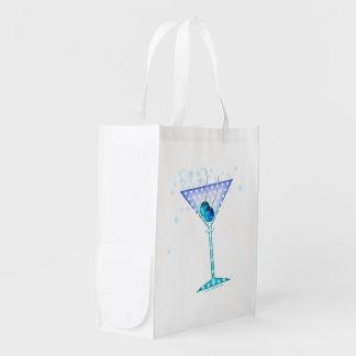 REUSABLE BAGS - BLUE MARTINI