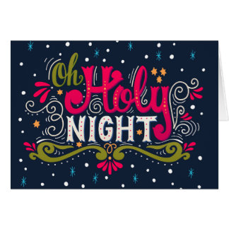 Revised Holy Night Christmas Note Card