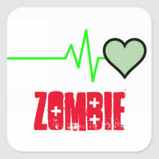 Revived Heart Zombie Square Sticker