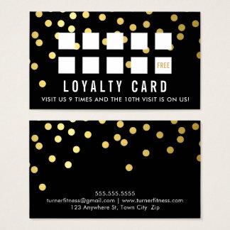 REWARD LOYALTY CARD glam confetti gold black