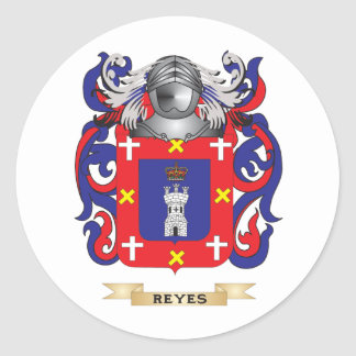 Reyes Coat of Arms (Family Crest) Round Sticker
