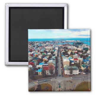 Reykjavik Aerial View Magnet