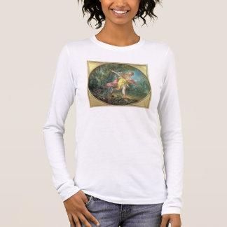 Rhea Sylvia fleeing from the Wolf, 1756 Long Sleeve T-Shirt