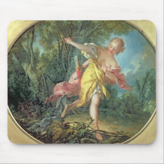 Rhea Sylvia fleeing from the Wolf, 1756 Mouse Pad