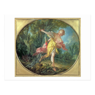 Rhea Sylvia fleeing from the Wolf, 1756 Postcard