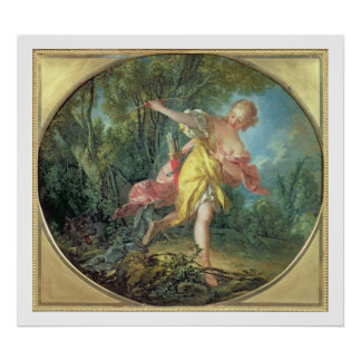Rhea Sylvia fleeing from the Wolf, 1756 Poster
