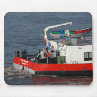 Rhine barges; Tender to go ashore Mouse Pad