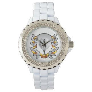 Rhinestone golf emblem watch. watch