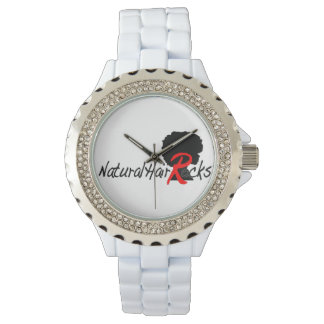 Rhinestone Natural Hair Rocks watch