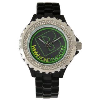Rhinestone with Black Enamel Watch