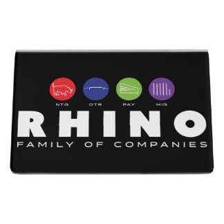 Rhino Family Business Card Holder Desk Business Card Holder