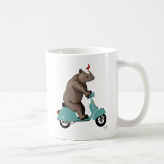 Rhino on Moped Coffee Mug