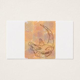 Rhino, watercolour earth business card