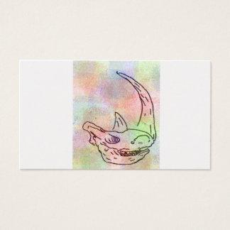 Rhino watercolour rainbow business card