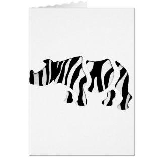 rhino zebra: Wild Mash-Up Card