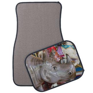 Rhinoceros Carousel Ride on Merry-Go-Round Floor Mat