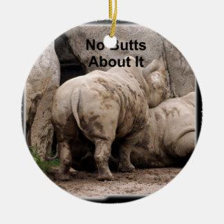 Rhinoceros Christmas Ornament