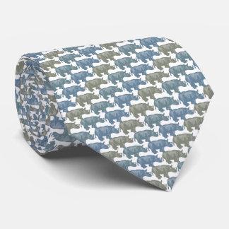 Rhinoceros Tie Armani Grey