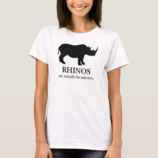 Rhinos are fat unicorns t-shirt