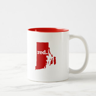 RHODE ISLAND RED STATE Two-Tone COFFEE MUG