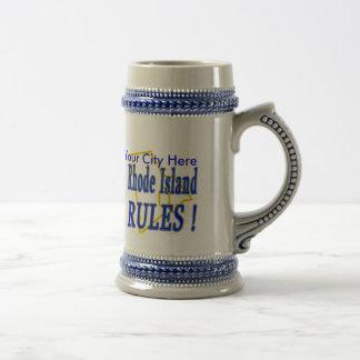 Rhode Island Rules ! Beer Stein