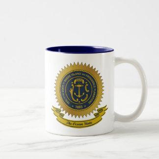 Rhode Island Seal Two-Tone Coffee Mug