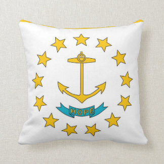 Rhode Island State Flag American MoJo Pillow