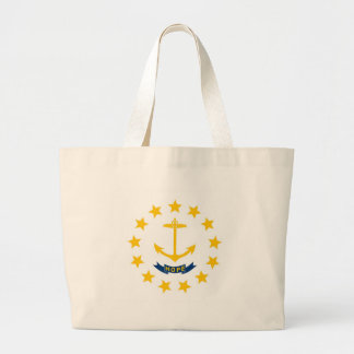 Rhode Island State Flag Jumbo Tote Bag