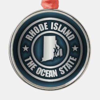 Rhode Island Steel (B) Silver-Colored Round Decoration