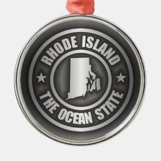 Rhode Island Steel Silver-Colored Round Decoration