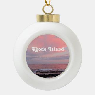 Rhode Island Sunset Ornaments