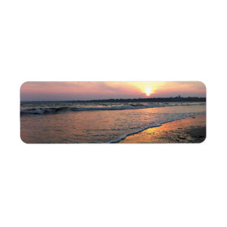 Rhode Island Sunset Return Address Label