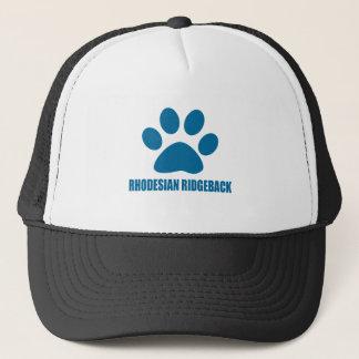 RHODESIAN RIDGEBACK DOG DESIGNS TRUCKER HAT