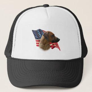 Rhodesian Ridgeback Flag Trucker Hat