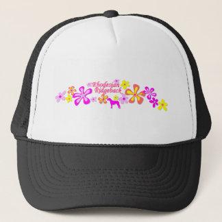 Rhodesian Ridgeback Flowers Trucker Hat