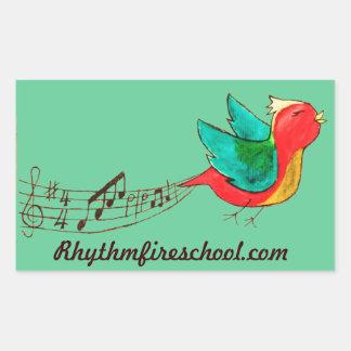 Rhythm Fire singing bird stickers