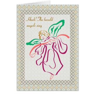Ribbon Angel Greeting Card
