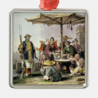 Rice Sellers at the Military Station of Tong-Chang Christmas Ornament