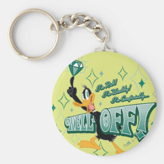 Rich and Wealthy DAFFY DUCK™ Basic Round Button Key Ring