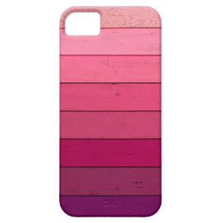 Rich pink Ombre wood iPhone 5 case
