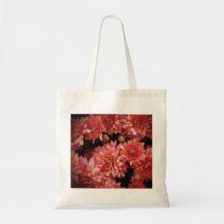 Rich Red Chrysanthemums Tote Bag