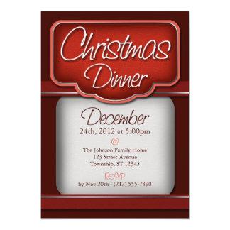 Rich Red Velvet Christmas Dinner Invitations