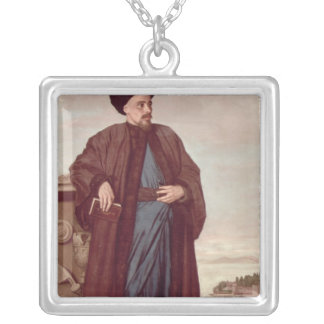Richard Pococke in oriental costume, 1738 Silver Plated Necklace