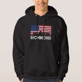 Richmond VA American Flag Skyline Hoodie