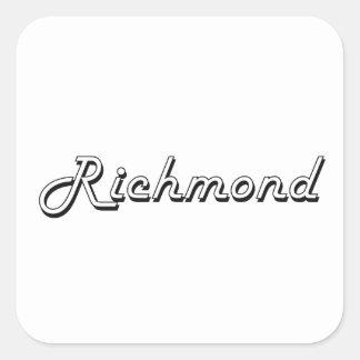 Richmond Virginia Classic Retro Design Square Sticker