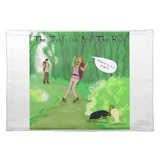 Rick London Turtle And The Wig Hair Funny Placemat