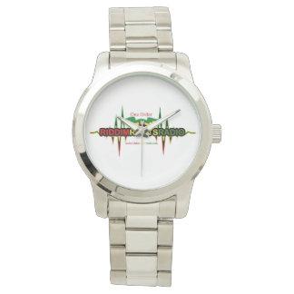 Riddim Roots Radio Unisex Silver Bracelet Watch