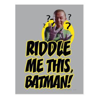 Riddle Me This Batman Postcard
